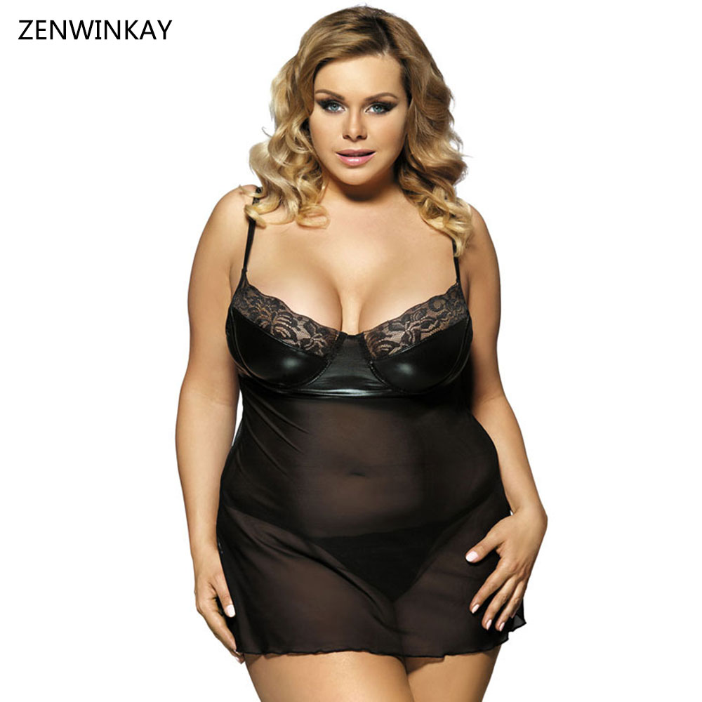 Black Negligee Babydoll Lingerie Sexy Dress Erotic Costume -5510