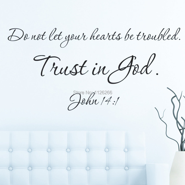 Aliexpress Com Buy Wall Sticker Quotes Trust In God Removable