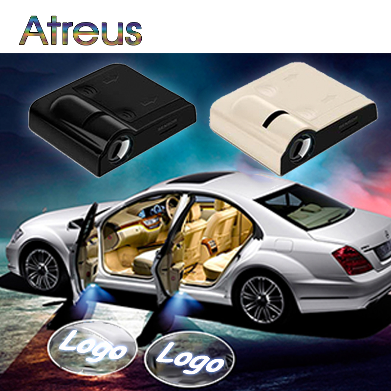 atreus 2pcs car door welcome light projector logo for bmw e46 e60 e90 f30 f10 toyota ford focus. Black Bedroom Furniture Sets. Home Design Ideas