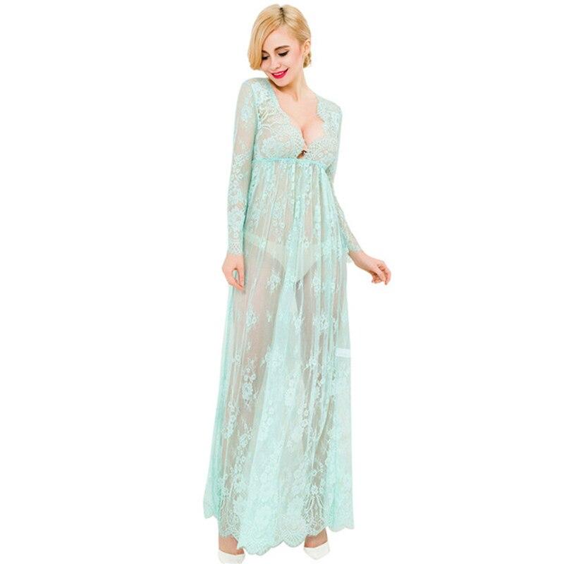 Сексуальное эротическое платье с длинным рукавом сексуальные костюмы Babydoll женское длинное прозрачное сексуальное кружевное белье больших