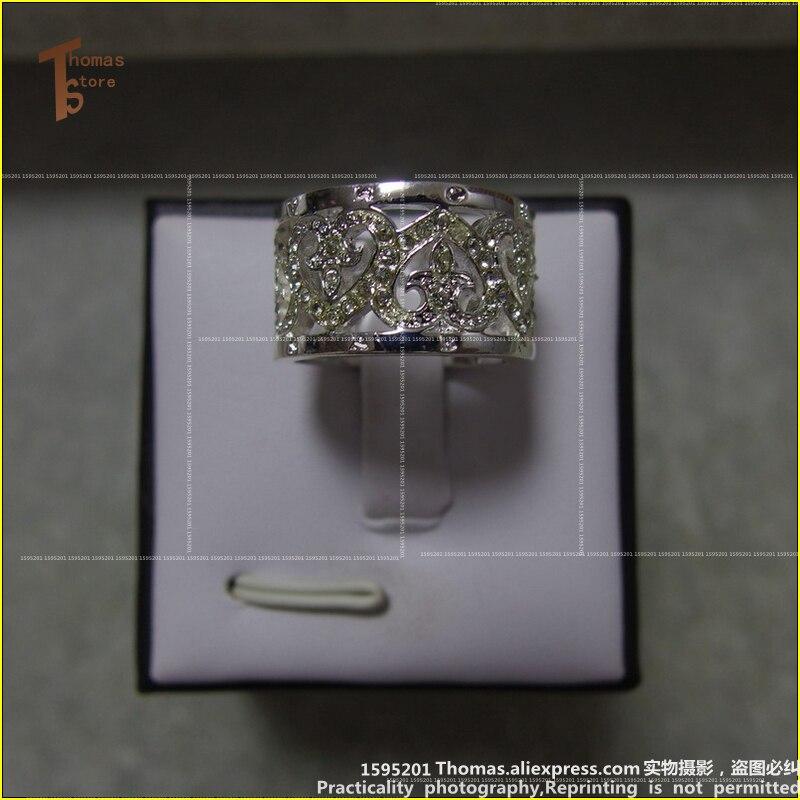 RS1219 белое сердце кольцо евро-американском стиле глэм и Soul хорошее украшения для Для мужчин и Для женщин 2015 Ts подарок В S925 посеребренный