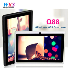 Waywalkers Q88 7 Дюймов Tablet PC Quad Core Android 4.4 Tablet 8 ГБ ROM Google APP Играть USB WI-FI Нескольких цветов W/Клавиатура Новый Горячий
