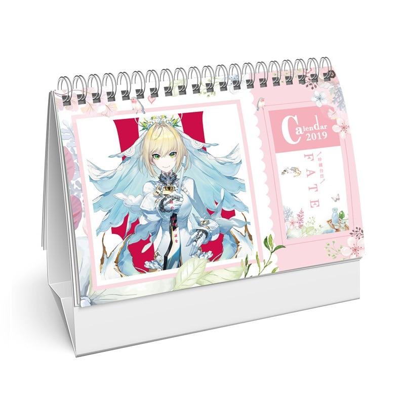 2019 Anime Fate/stay Night Cartoon Schreibtisch Kalender Diy Tisch Kalender Täglichen Zeitplan Planer 2019,01 ~ 2019,12 Office & School Supplies