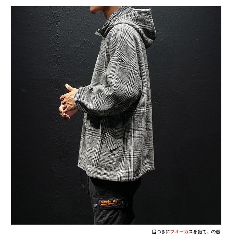 Korean Trench Coat Men Overcoat Hood Slim Fit (6)