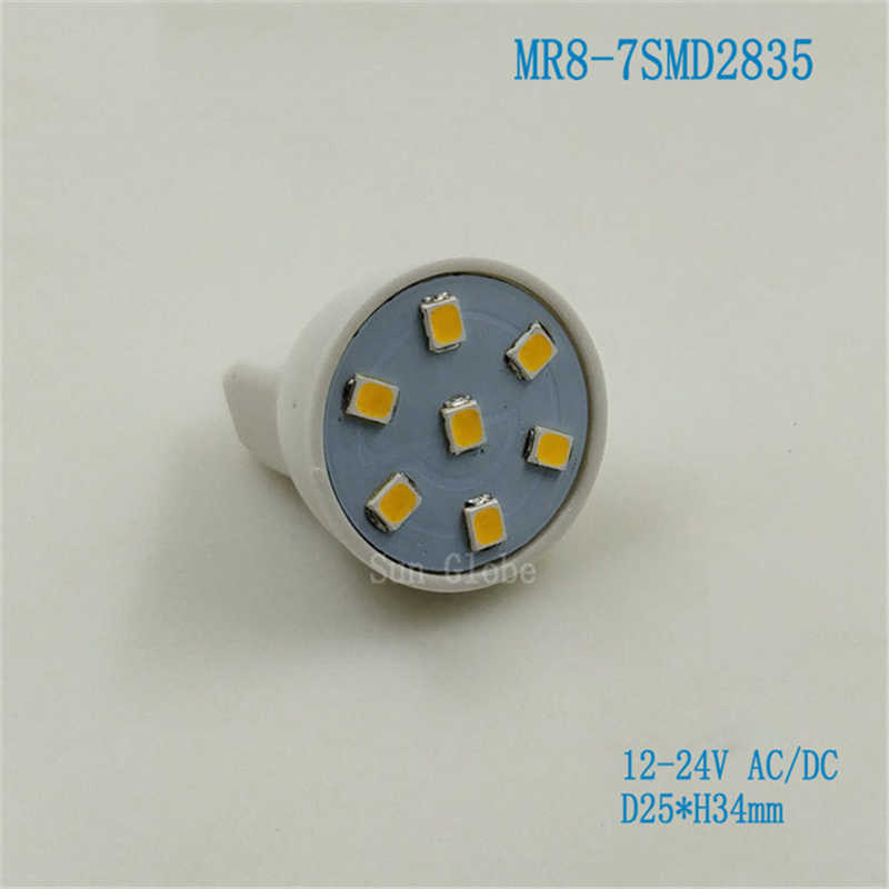 2019 Newest MR8 Lampada Led Lamp AC/DC12V 12-24V Bombillas Led Bulb Spotlight 6LEDs 7LEDS 5050 2835 SMD Lampara Spot Light