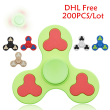 200PCS/Lot Camo Fidgets Toys Abrasive Plastic Finger spinner Triangle Hand Spinner Stress Wheel Adult Funny antistress Toys