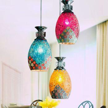 1/3 ראשי האור מנורות תליון מנורות תליון אורות סלון מנורות תאורת פסיפס בעבודת יד אור מנורת מדרגות ZA