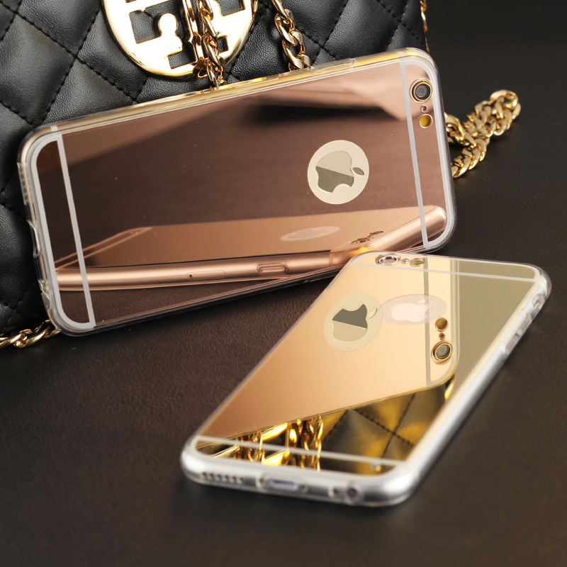 High Quality Fashion Deluxe Electroplating Mirror TPU Clear Soft Phone Case Cover for font b iPhone