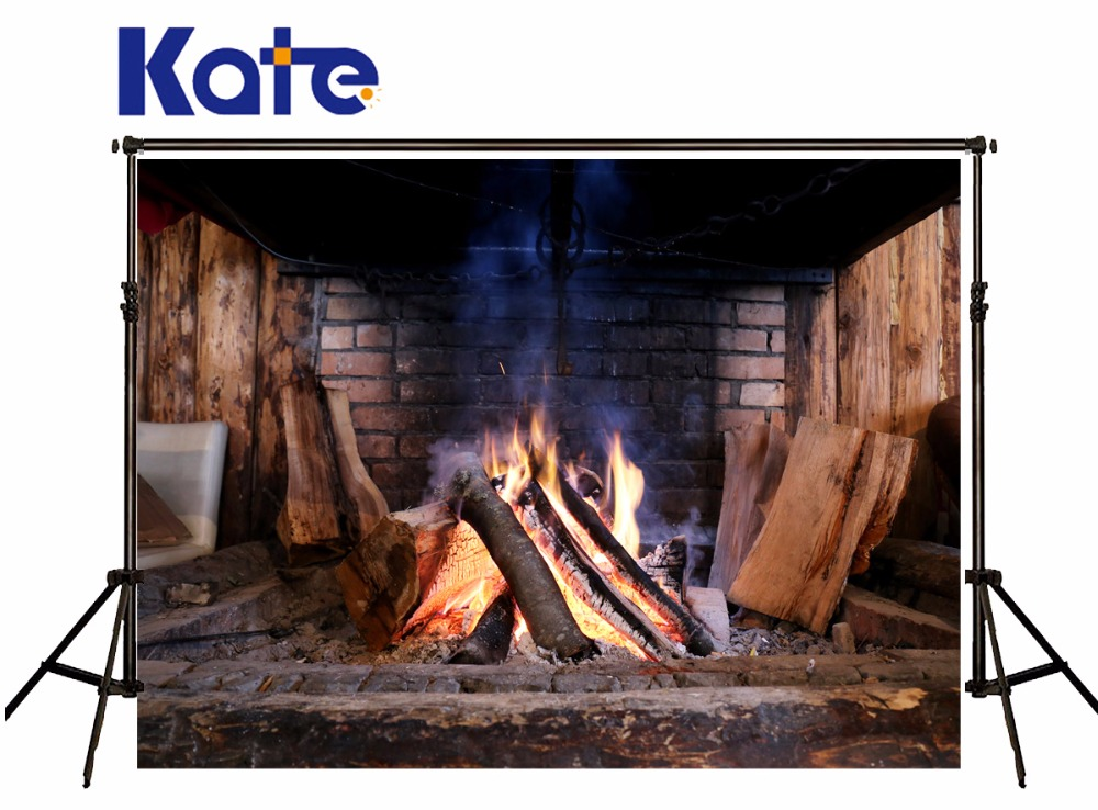 Kate Chalets Brick wall Photography Backdrops Warm Bonfire Screen Photo Background Photographie Fond Pour Photo foto background kate photo background scenery