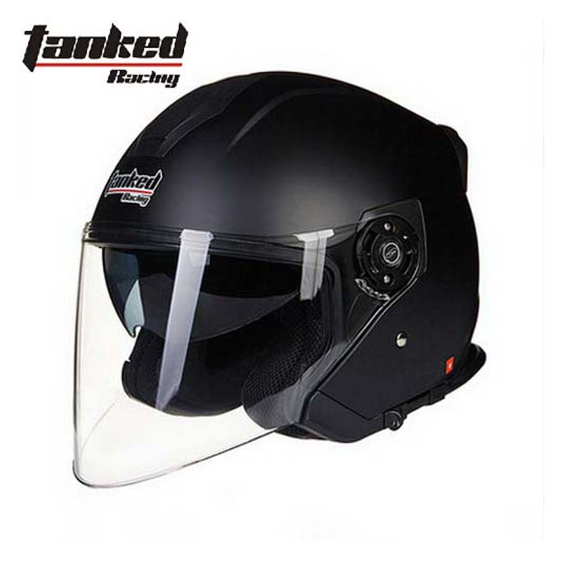 men Tanked Racing T597 dual visor electric motorcycle helmet, dirt scooter motorbike safety half face helmet size L XL XXL new tanked motorcycle full helmet double lens knight racing motorbike helmet safety caps ece certificate size l xl xxl
