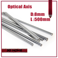 Top Quality 1pcs OD 8mm X 500mm Cylinder Liner Rail Linear Shaft Optical Axis Chrome For