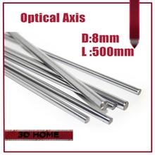 Высокое Качество 1 шт. OD 8 мм х 500 мм Гильза Цилиндра Рельса линейные Вал Оптической Оси chrome Для 3D Принтер Аксессуары для CNC