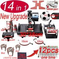 14 In 1 Heat pen Press Machine,Sublimation Printer/shoe Transfer Machine Heat Press For Mug/Cap/T shirt/shoe/bottle/pen/football