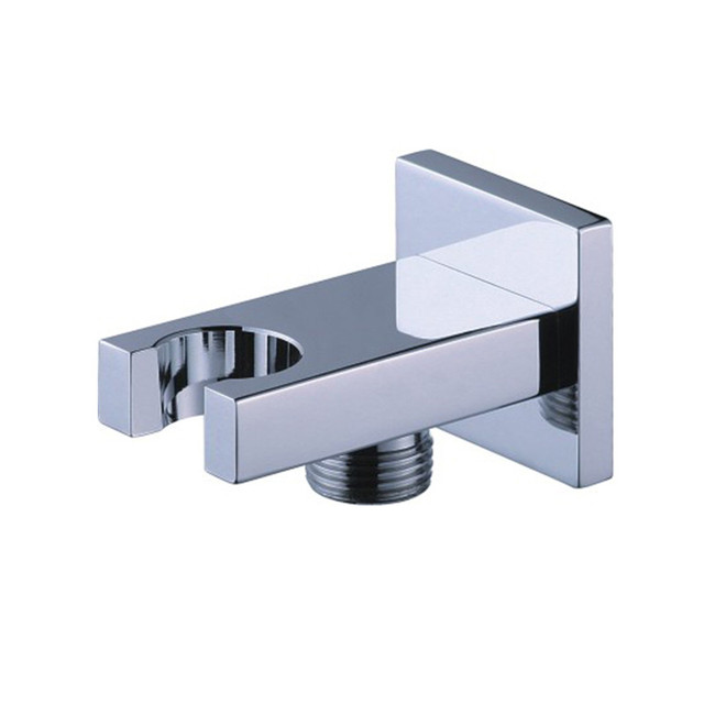 High Quality High Quality Brass Chrome Shower Head Holder With Hose Connection Connector  Wall Elbow Unit Spout Hand