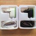 2 em 1 para belkin plug ue 10 w 2.1a 2 port dual usb dois início carregador de parede + cabo usb para samsung s6 iphone 7 6 s com varejo caixa