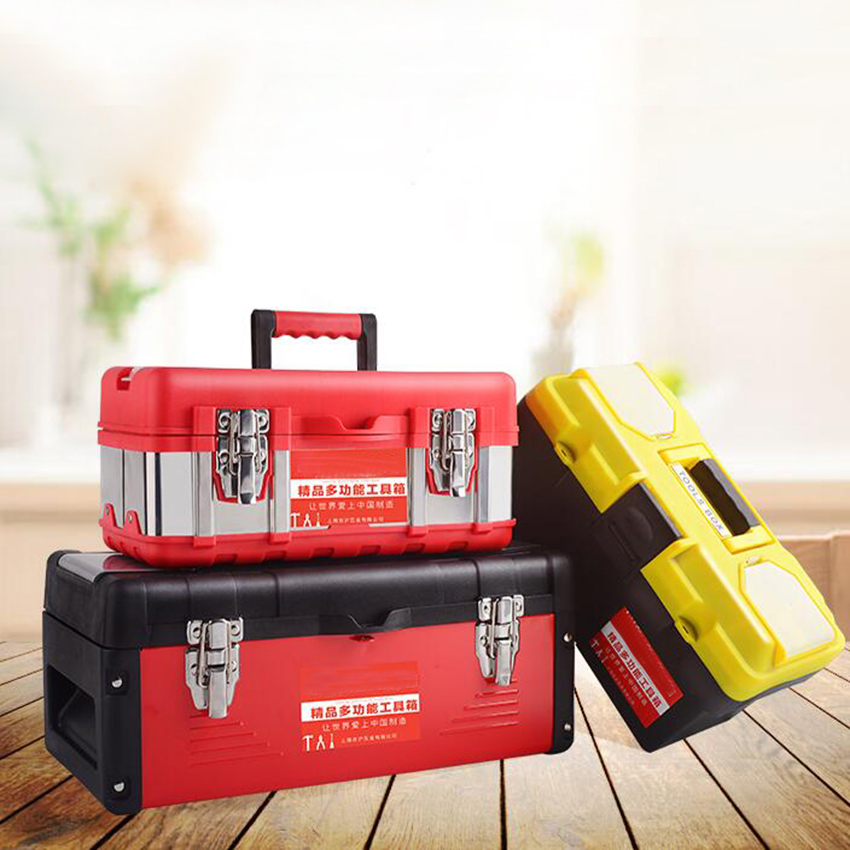10/12/14/17 Inch Multifunctional Tool Parts Hardware And Tools Tool Storage Box ABS Plastic Tool Box Electrician Box