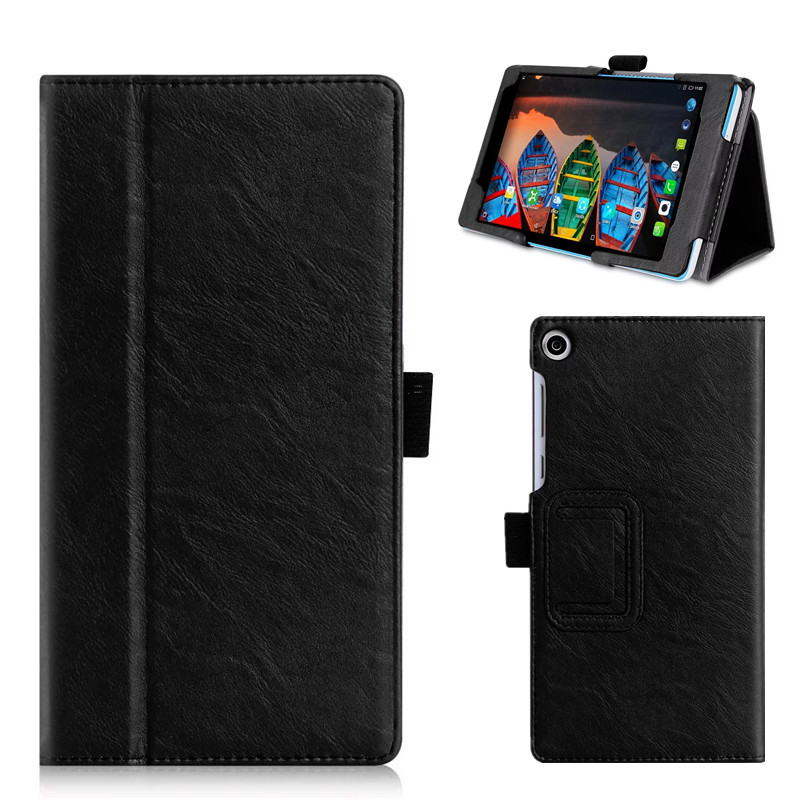 For Lenovo Tab 3 A7 730M PU Leather Case Slim Cover Tablet Stand Case with Hand Holder Card Slots for Lenovo Tab 3 A7 Tab3-730M slim fit stand feature folio flip pu hybrid print case for lenovo tab 3 730f 730m 730x 7 inch
