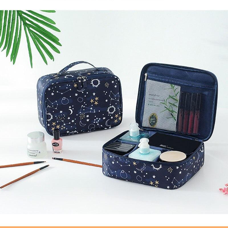 Blue Organizer Insert Bag Women Nylon Travel Insert Organizer Handbag Purse Large liner Lady Makeup Cosmetic Bag Female Tote-in Storage Bags from Home & Garden