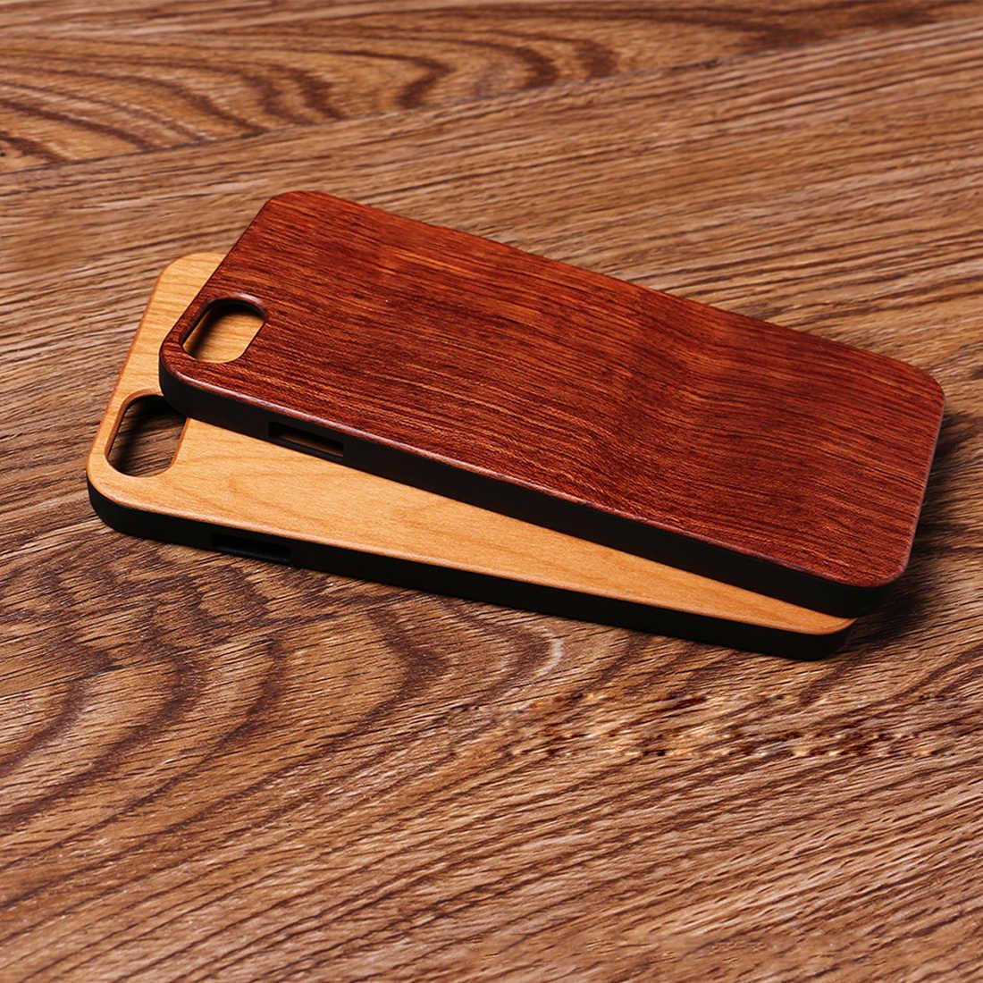 ace70b091c972 ... Etmakit деревянная крышка для iPhone 7 Plus чехол из натурального  бамбука Деревянные телефонные чехлы iPhone 6 ...