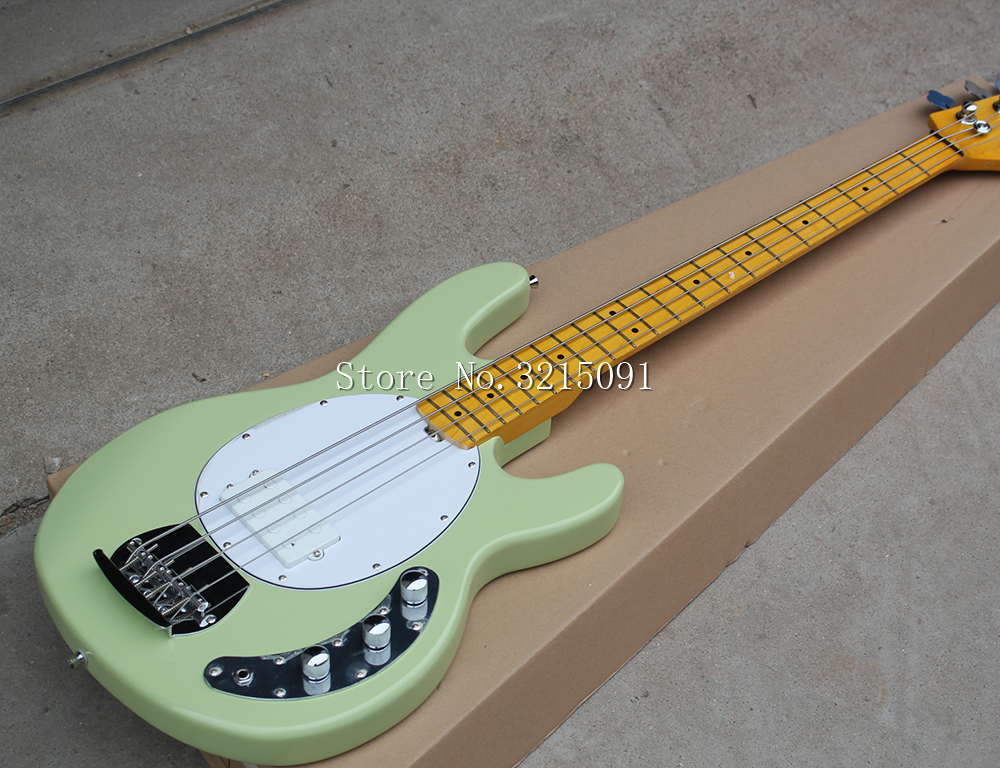 factory custom 4 string green electric bass guitar with. Black Bedroom Furniture Sets. Home Design Ideas