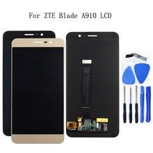 """5.5 """"الأصلي ل ZTE بليد A910 BA910 شاشة الكريستال السائل مجموعة المحولات الرقمية لشاشة تعمل بلمس ل ZTE بليد A910 عرض استبدال عدة"""