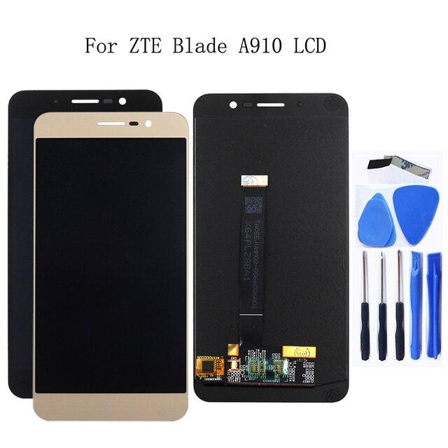 "5.5 ""originale per ZTE lama A910 BA910 display LCD touch screen digitizer assembly per ZTE lama A910 display di ricambio kit"