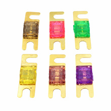 ANL Gold Plated Stud Car Fuses Mini Car Stereo Audio AFS Fuse 20A 30A 40A 50A 60A 70A 80A 100A 125A 150A 175A 200A [sa]united states bussmann fuses 170m3811 170m3811d 80a 690v 700v fuse