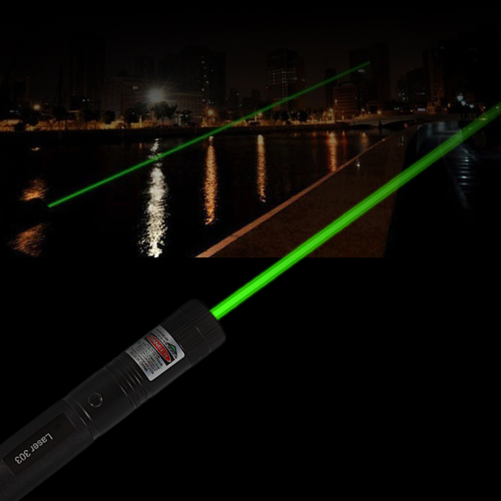 Powerful Pointeur Laser 303 Adjustable Focus 532nm Green Laser Pointer Light Output power less than 1mw no battery Wholesale