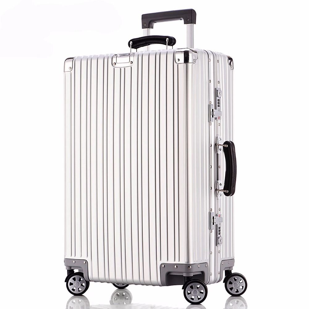 20''24''29'' Aluminium Luggage Travel Trolley Rolling Suitcase Women Men Rolling Luggage Carry On Boarding Case