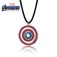 Super Hero Captain America Necklace 925 Silver The Avengers Superhero Shield Pendant Necklaces For Men Jewelry Choker Gifts