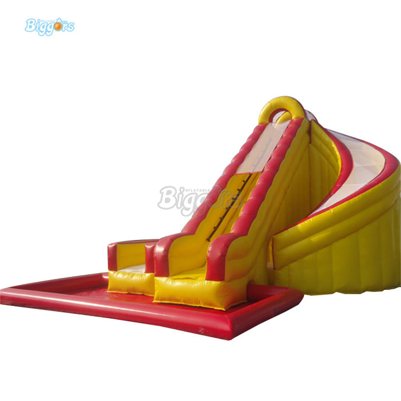 Inflatable Amusement Park Inflatable Water Slide With Pool Inflatable Water Park Slide For Sale 4 1m red colour inflatable towable tube crazy ufo flying boat inflatable water sofa for summer water park