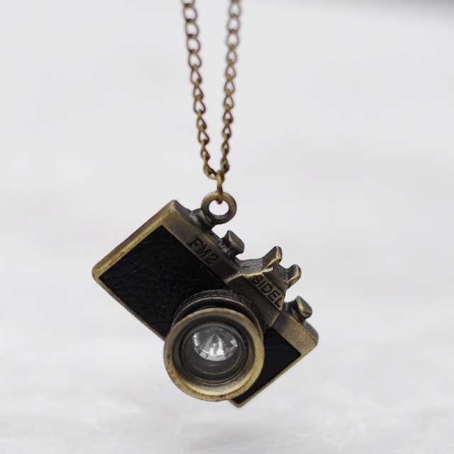 Vintage womens jewelry statement necklaces pendantsalloy long vintage womens jewelry statement necklaces pendantsalloy long rope old camera pendant necklace for mozeypictures Gallery