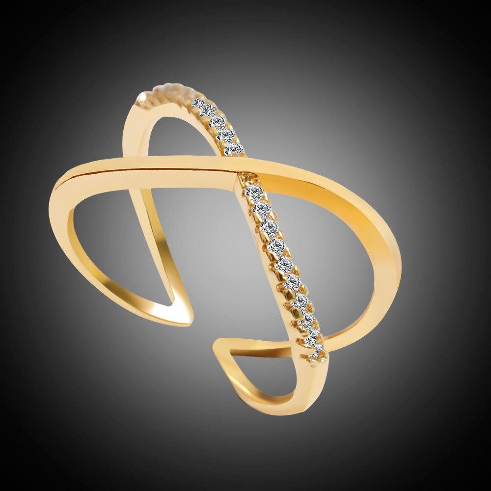 Latest Design Brand Ring Real new Austrian Crystal Luxury Ring For Women Cross mariposa en plata anillo