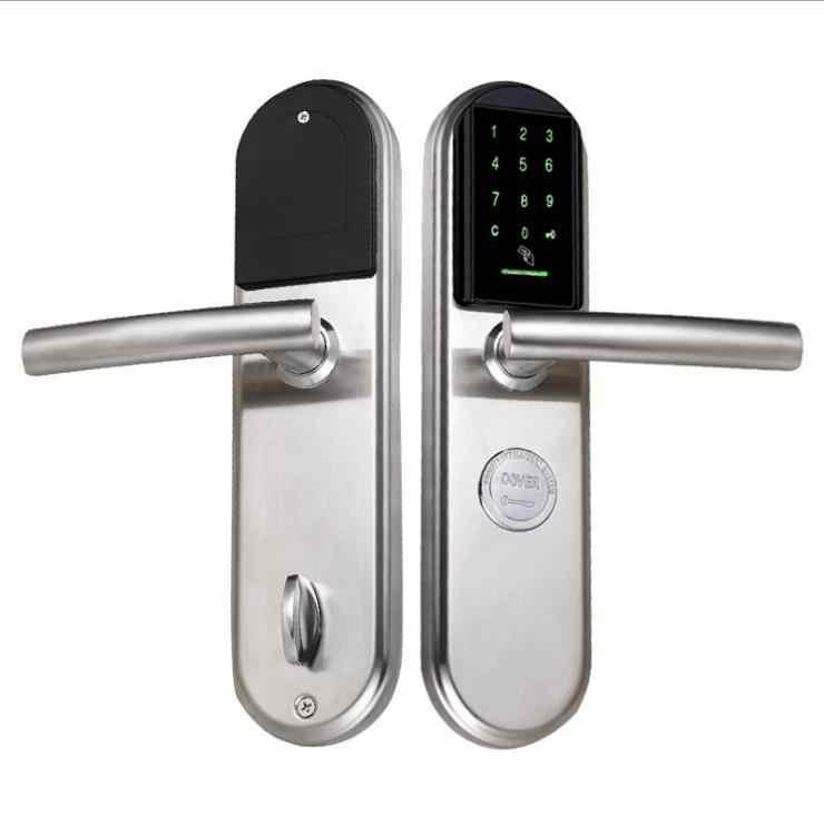 Attirant ... Smart Door Lock Electronica Digital Inteligente Card Password Knob  Security Gate Home Office Lock Anti  ...