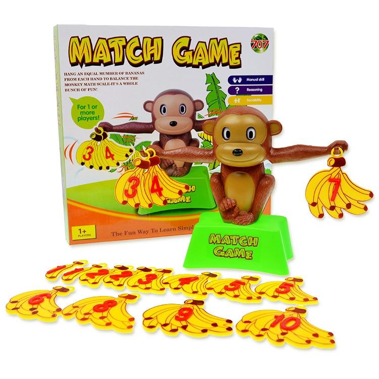 Обезьяна банан Баланс Весы игрушки Игры Математика игрушки цифры разведки Детские Раннего Обучения детей малыша рабочий стол игрушка в подарок для детей