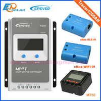 Battery charger solar 10A Tracer1206AN MPPT Solar tracking controller 10amps 12V/24V auto work Wifi and BLE eBOX
