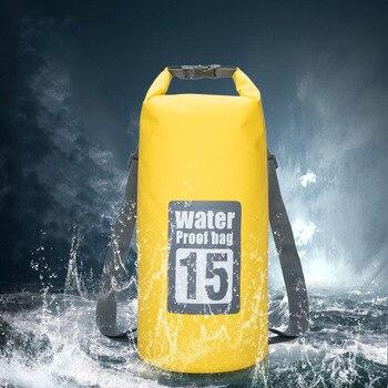 30L En Plein Air sac Étanche PVC baignade surveillée dérive sac camouflage imperméable seau sacs d'épaule sac à dos