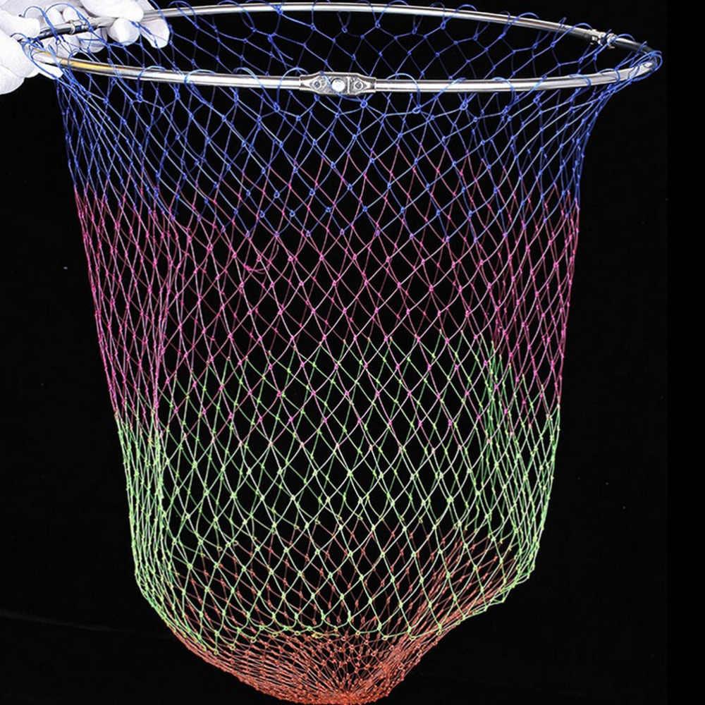 1PCไนลอนตกปลาตกปลาพับได้เครื่องมือRhombusตาข่ายความลึกพับไนล่อนLandingสุทธิ3ขนาด