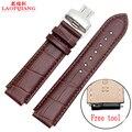 Laopijiang primeira camada de pele de bezerro importado cor borboleta crocodilo alternativo HUAWEI relógio pulseiras de relógio de couro 22*18 MM