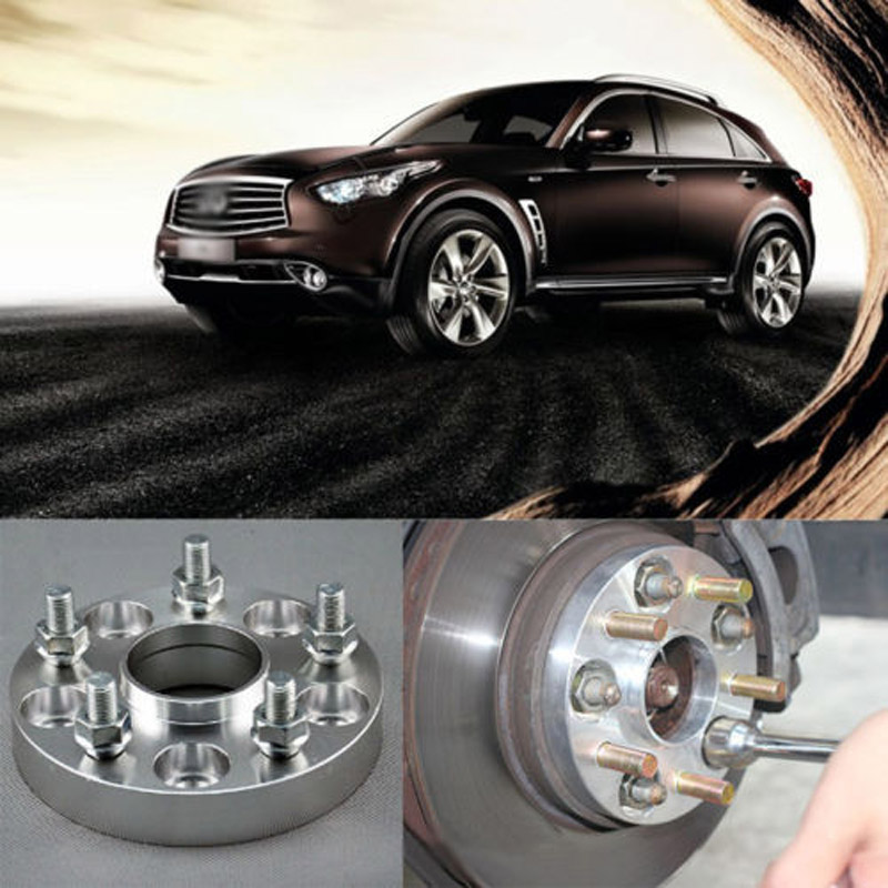 Teeze 4pcs New Billet 5 Lug 12*1.25 Studs Wheel Spacers Adapters For Infiniti EX 2008-2014/FX 2009-2014/M-Type 2006-2014 4pcs new billet 5 lug 14 1 5 studs wheel spacers adapters for bmw x5 e70 2007 2013