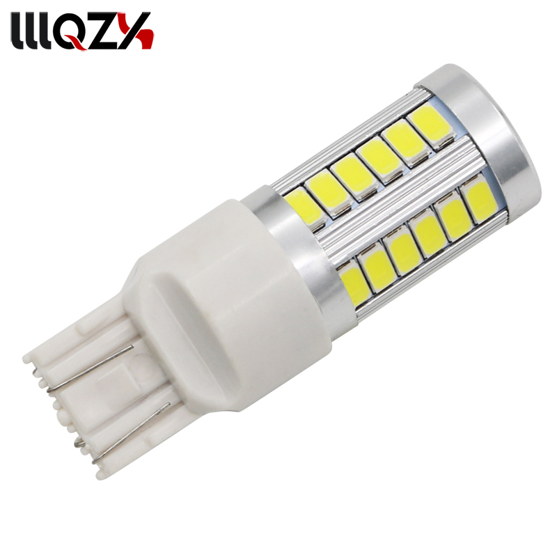 T20 7443 W21/5W 33 SMD 5630 5730 LED Auto Brake Lights 21/5w Car DRL Driving Lamp Stop Bulbs Turn Signals Red White Amber DC 12V ld t20 7 5w 350lm 6500k 15 led white cob car turn signals silver yellow white 10 13 6v