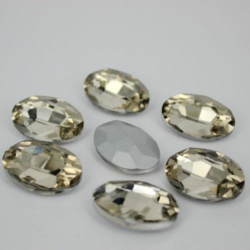 Café léger ovale verre à dos pointu | Couleur cristal clair, pierres fantaisie beads.10 * 14mm,13*18mm,18*25mm,20*30mm