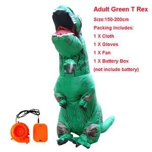 Image 4 - Nadmuchiwany kostium T Rex kostium Disfraces Adultos Halloween kostiumy dla kobiet Anime Pikachu Cosplay disfraz mujer anime tkaniny