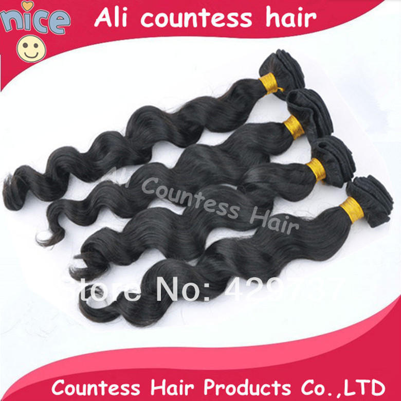 Can drop ship brazilian loose wave virgin hair extensions countess remy human weave CH1216 - Queen beautyhair salon store