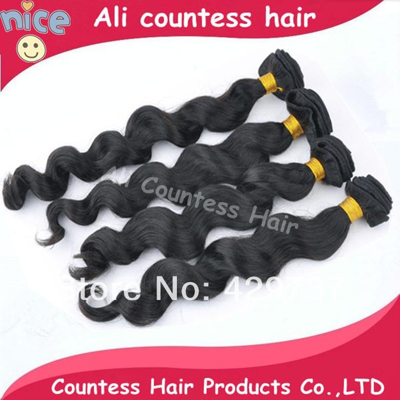 Can drop ship brazilian loose wave virgin hair extensions countess remy human weave CH1216 - Queen beautyhair salon store