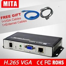 Darmowa Wysyłka H.265/Strumień Wideo VGA + Audio Do IP H.264 HD Live Streaming Encoder Encoder IPTV HTTP, RTSP, RTMP, UDP, ONVIF