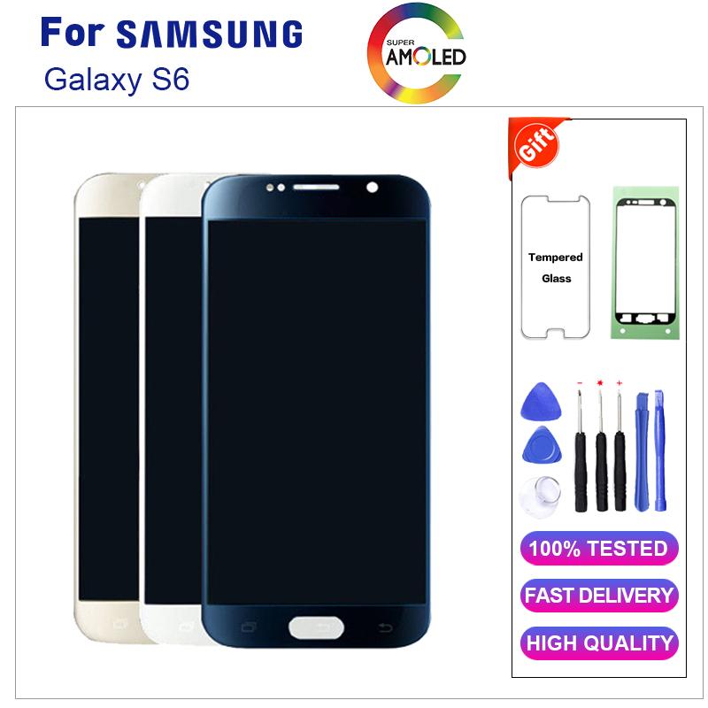 Super AMOLED S6 LCD For Samsung GALAXY S6 G920 G920F G920FD G920FQ LCD Display Touch Screen Digitizer Assembly+Tools+TapeSuper AMOLED S6 LCD For Samsung GALAXY S6 G920 G920F G920FD G920FQ LCD Display Touch Screen Digitizer Assembly+Tools+Tape