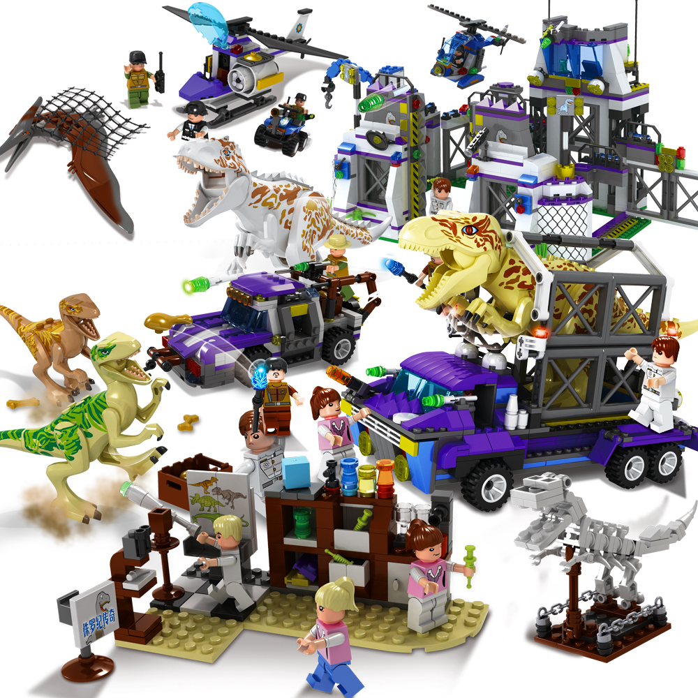 Jurassic World 2 Dinosaurs Building Blocks Tyrannosaurus Rex T-Rex Dinosaurs Figures Brick Legoings Jurassic Dinosaur Toy Model jurassic world 2 dinosaurs building blocks tyrannosaurus rex t rex dinosaurs figures brick legoings jurassic dinosaur toy model