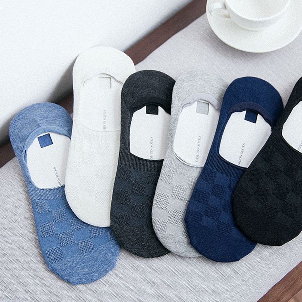 New Cotton Men Invisible Socks Men Socks Silicone Anti - Skid, Pure Color Summer Socks For Men Cool Face To Summer