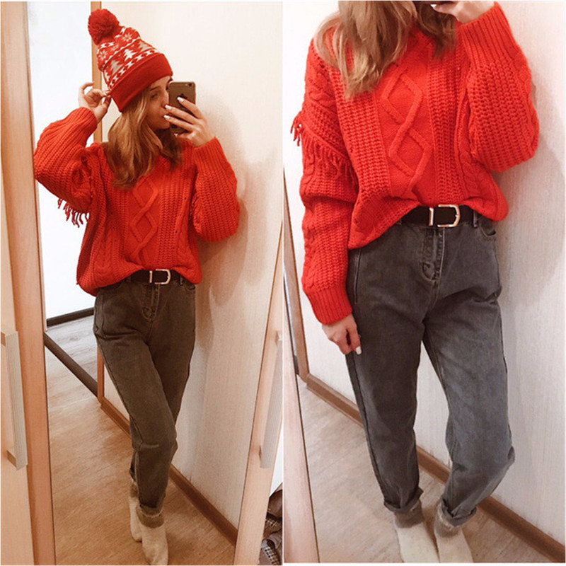 GCAROL New Women 93% Cotton Blends Pencil Denim Pants High Waisted High Street Boyfriend Style Jeans In 3 Colors Plus Size 26-32 29